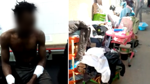 This photo shows Amadou, a migrant from the Ivory Coast living in Tunis. He was assaulted by a group of men after he fought with his landlord. © Screengrab, DR