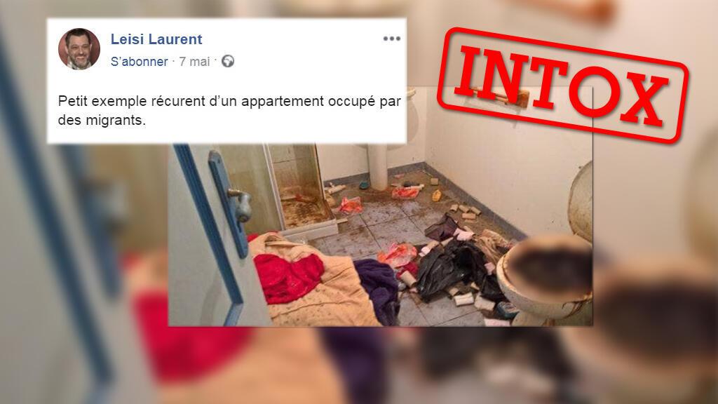 Cet appartement insalubre n'a pas été occupé par des migrants, comme l'affirme ce conseiller municipal suisse.