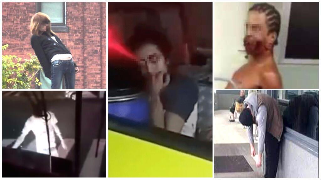 """Toutes ces images sont issues de vidéos affirmant que des humains se sont transformés en zombies après avoir consommé une drogue... dans cet article, nous démêlons le vrai du faux sur cette """"drogue-zombie""""."""