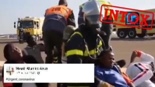 Cette vidéo diffusée sur Facebook montre des scènes de panique suite à une supposée présence de cas de coronavirus dans l'aéroport de Dakar.