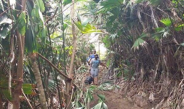 """Dans la jungle du Darién. Photo publiée le 22 avril sur la page Facebook """"QUE PASEN LOS CUBANOS""""."""