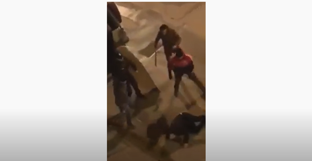 Capture d'écran de la vidéo d'interpellation à Hammamet.