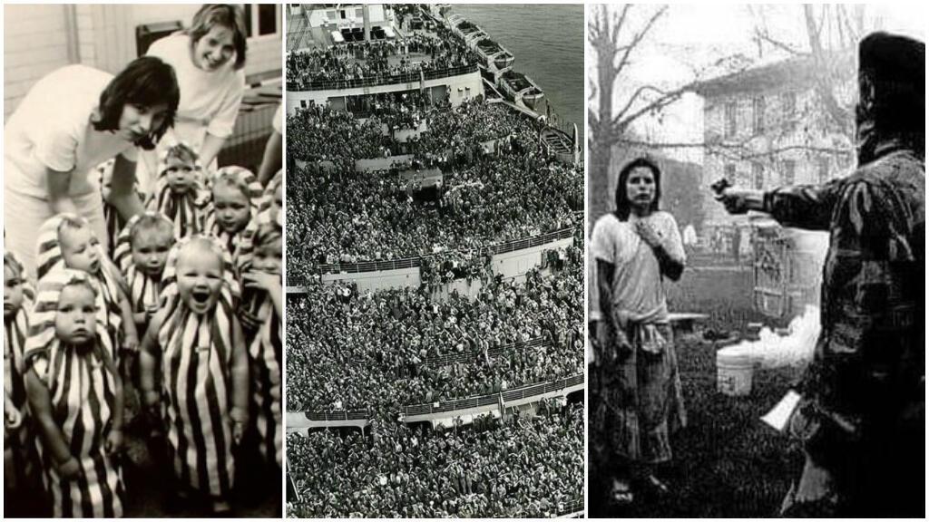 Ces trois photos d'archives ont été détournées avec une fausse légende.