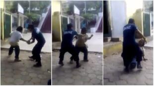 Captures d'écran de la vidéo ci-dessous, tournée à Xalpatláhuac, dans l'État de Guerrero (sud-ouest du Mexique).