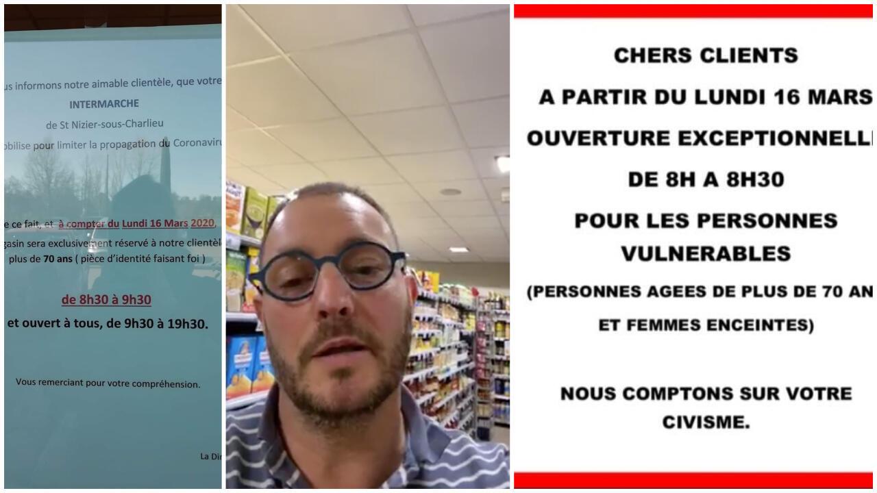 De nombreux supermarchés en France ont décidé de réserver des créneaux horaires pour les personnes âgées et fragiles, donc vulnérables au virus Covid-19.