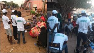 Les volontaires vont à la rencontre des habitants pour les convaincre ne rien accepter en échange de leurs votes. Crédits : Ousmane Chérif