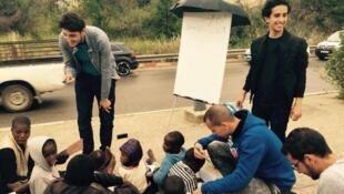 """Le projet """"L'école des réfugiés"""" à Tizi Ouzou. Source: page facebook de """"L'école des réfugiés"""""""