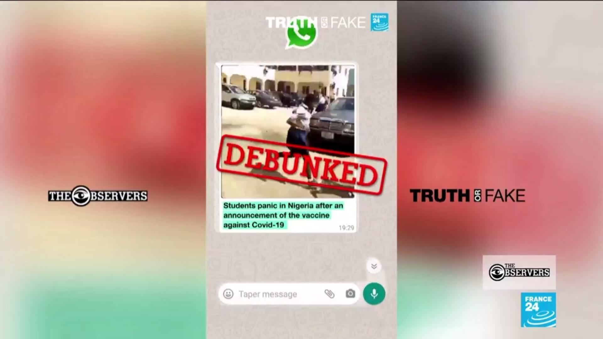 A video circulating on WhatsApp claimed to show Nigerian students running away from getting the Covid-19 vaccine.