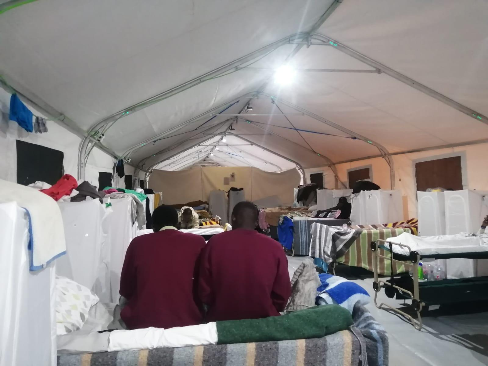Photo prise dans le campement d'El Matorral. Envoyée à la rédaction des Observateurs de France 24 en avril. Crédit : DR