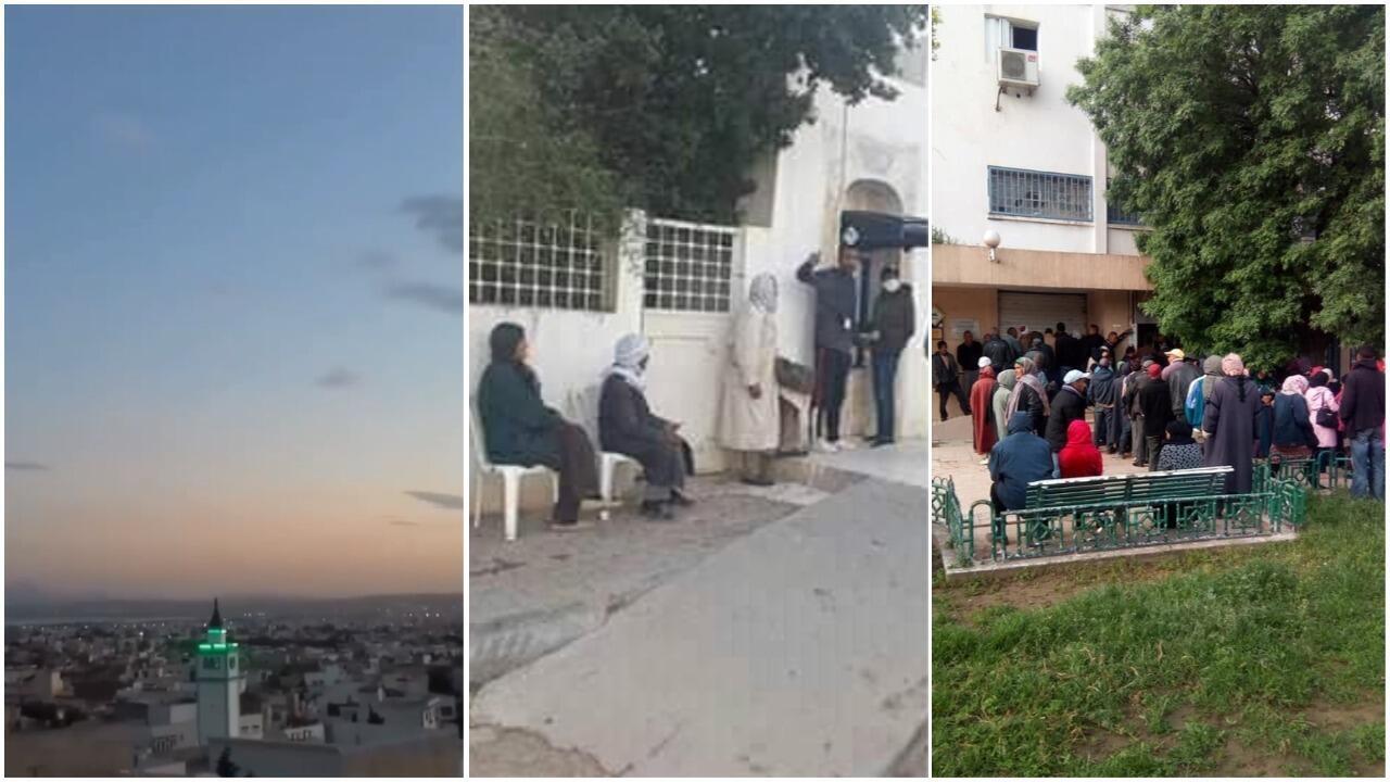 Malgré quelques initiatives, les mesures préventives contre le coronavirus en Tunisie ne sont pas totalement respectées . Photos et captures d'écran / réseaux sociaux.