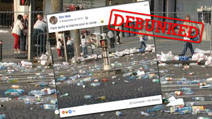 Did climate march participants really litter the streets of Paris?