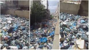 تصاویری از رودخانه زباله در بیروت
