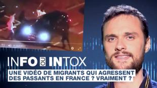 Cette vidéo a été présentée comme celle de migrants agressant des passants à Metz... En quelques clics, nous vous expliquons comment vérifier son origine.