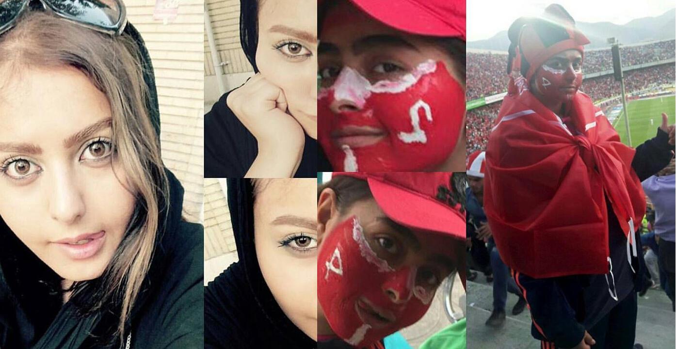 """""""Shakiba"""", une jeune fille de 22 ans, a mis en scène son entrée dans un stade de football lors d'un match d'hommes sur Instagram."""