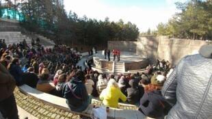"""Une des sessions du groupe """"Académies de rue"""" dans un parc de la capitale turque, le 12 février 2017. Photo publiée sur Facebook."""