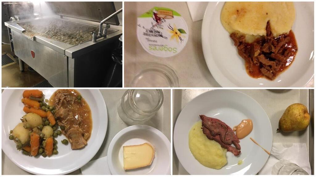 """Les photos des repas ont été prises par des parents d'élèves et publiées sur la page Facebook """"Les enfants du 18e mangent ça""""."""