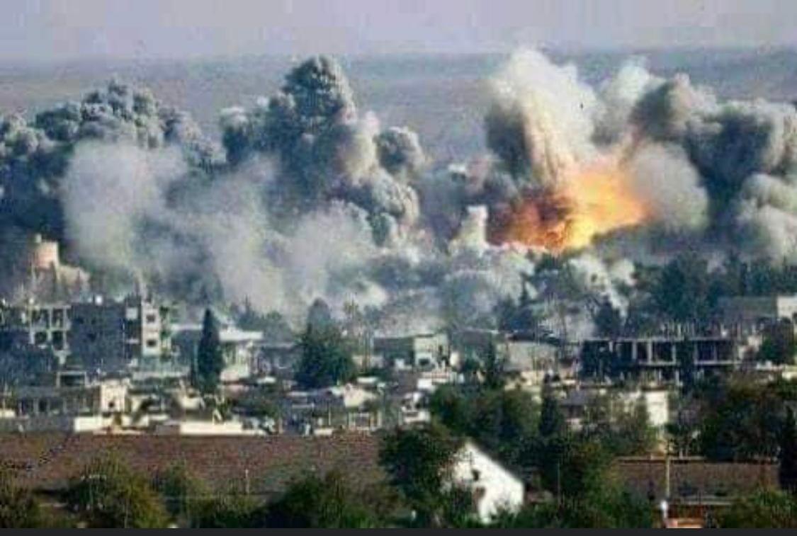 Première image partagée autour des bombardements à Deraa le 31 août 2021.