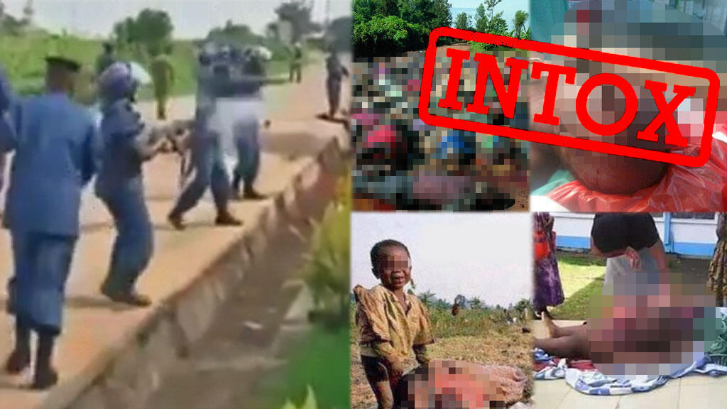 Toutes ces images ont circulé sur internet, et ont été associés aux massacres dans la région de Béni. Aucune d'entre elle n'a été prise en RD Congo.