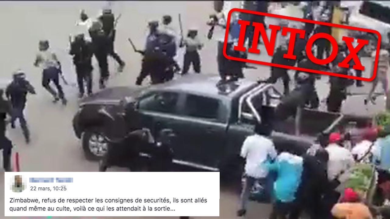 In recent days, people in Zimbabwe have been circulating videos that they claimed showed police violently punishing people who didn't respect measures enacted to halt the spread of COVID-19. It turns out, however, that this video is actually from 2019.