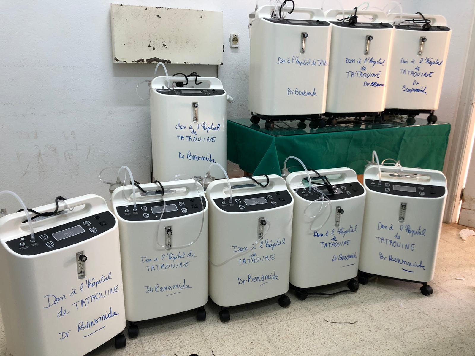 Concentrateurs d'oxygène achetés par le Dr Bachir Bensemida, le 20 juillet.