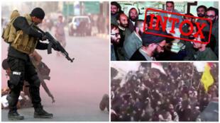 برخی از تصاویری که به اعتراضات اخیر عراق نسبت داده شدهاند اما واقعیت چیز دیگری است.