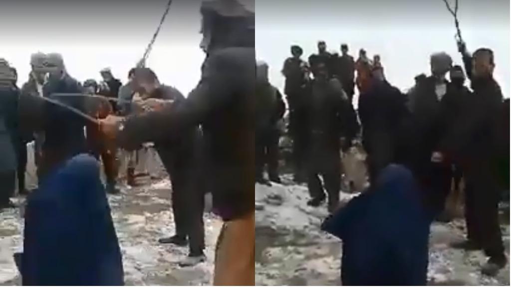 بخشهایی از ویدئوی ضرب و شتم یک زن در تخار افغانستان