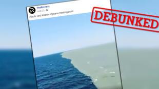 این ویدئو نشان دهنده محل برخورد اقیانوس اطلس و آرام نیست.