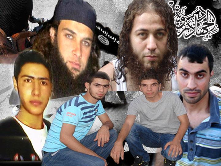 Six des jeunes hommes disparus en Syrie.