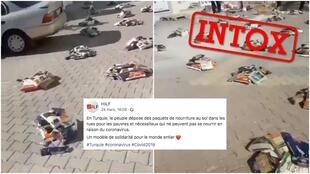 Captures d'écran de la vidéo, relayée sur la page Facebook d'une association franco-turque.
