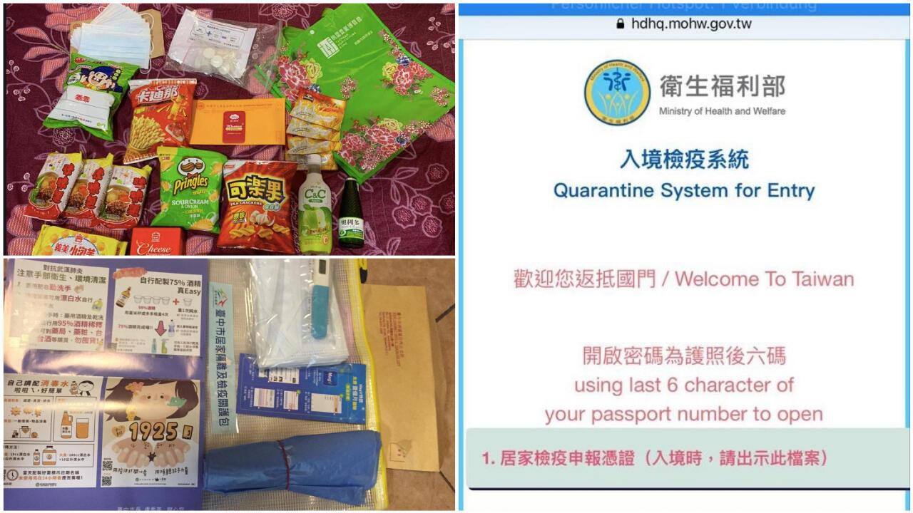 Tous les voyageurs qui arrivent à Taïwan doivent se plier à une quarantaine obligatoire de quatorze jours