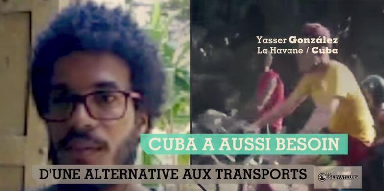 Captures d'écran de notre émission sur l'essor du vélo à Cuba.