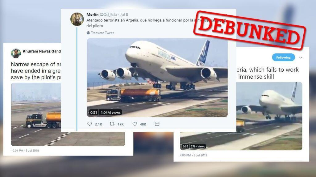 Twitter users around the world shared a clip taken from the video game Grand Theft Auto V.