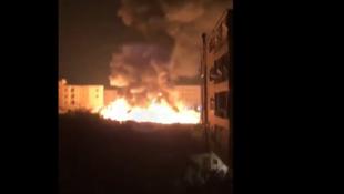 Incendie criminel dans le camp de Bhannine, à Al Minnieh dans le nord du Liban.