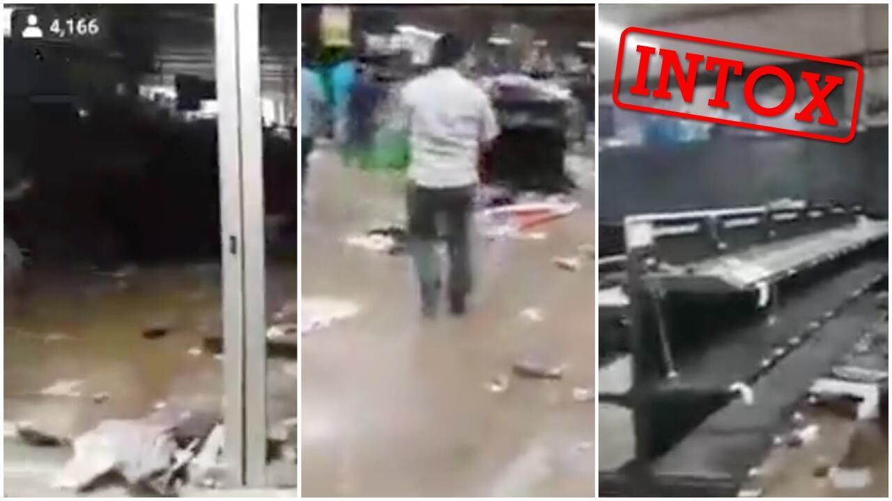 """Au Mexique, des vidéos ont été diffusées """"en direct"""" sur Facebook pour faire croire à des pillages provoqués par la panique des habitants face à la pandémie de coronavirus. Captures d'écran / réseaux sociaux."""