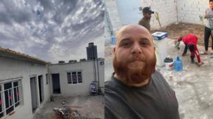 """Photos publiée sur la page Facebook de Mustapha alBadri, initiateur de la campagne """"Un toit sûr"""", en Irak."""