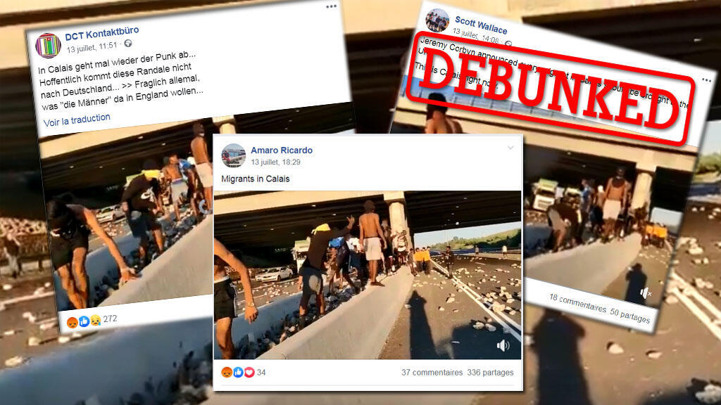 Several social media users shared videos of protests in Israel to mislead others into thinking that the scenes took place in Calais, France.