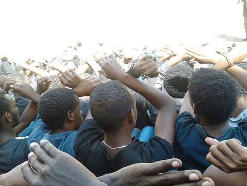 Manifestation pacifique dans une université de l'Oromia. Photo publiée sur les réseaux sociaux.