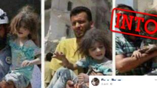 Un internaute prétend que cette fillette est utilisée dans des mises en scènes d'attaques chimiques.
