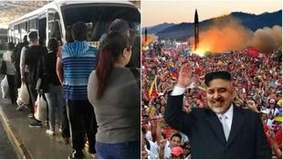 Screen captures from various tweets mocking the Chilean politician.