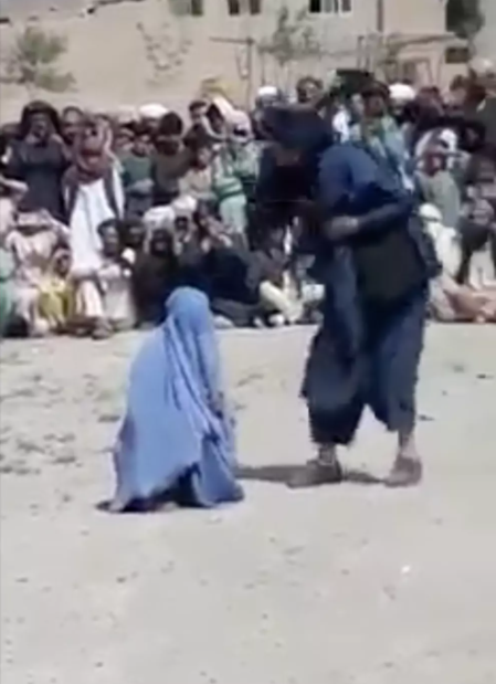 This video, showing the brutal sentence being carried out on an Afghan woman, was filmed near Herat and posted on Facebook on April 13.