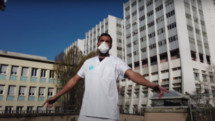 """In their new song """"20H"""" (""""8pm"""") French rap trio G7N pay tribute to healthcare workers on the frontlines. (Screengrab/YouTube """"G7Nofficial"""")."""