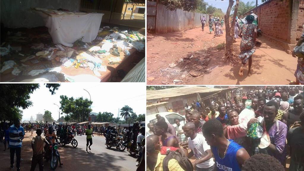 Une église située entre un quartier chrétien et un quartier musulman de Bangui a été la cible d'une attaque qui a fait plusieurs morts, dont un prêtre, le 1er mai, avant qu'une manifestation n'éclate.