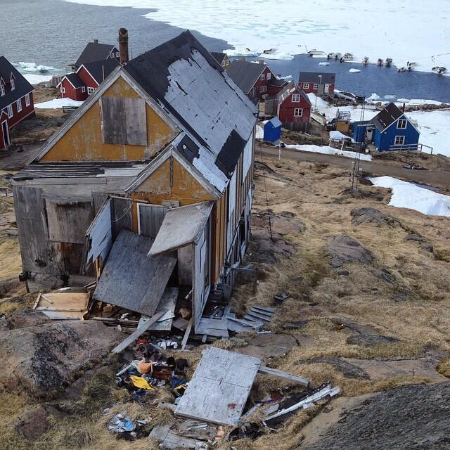 Abandoned houses in Kulusuk, a village in the east of Greenland. Photo: Jóhanna Björk Sveinbjörndóttir