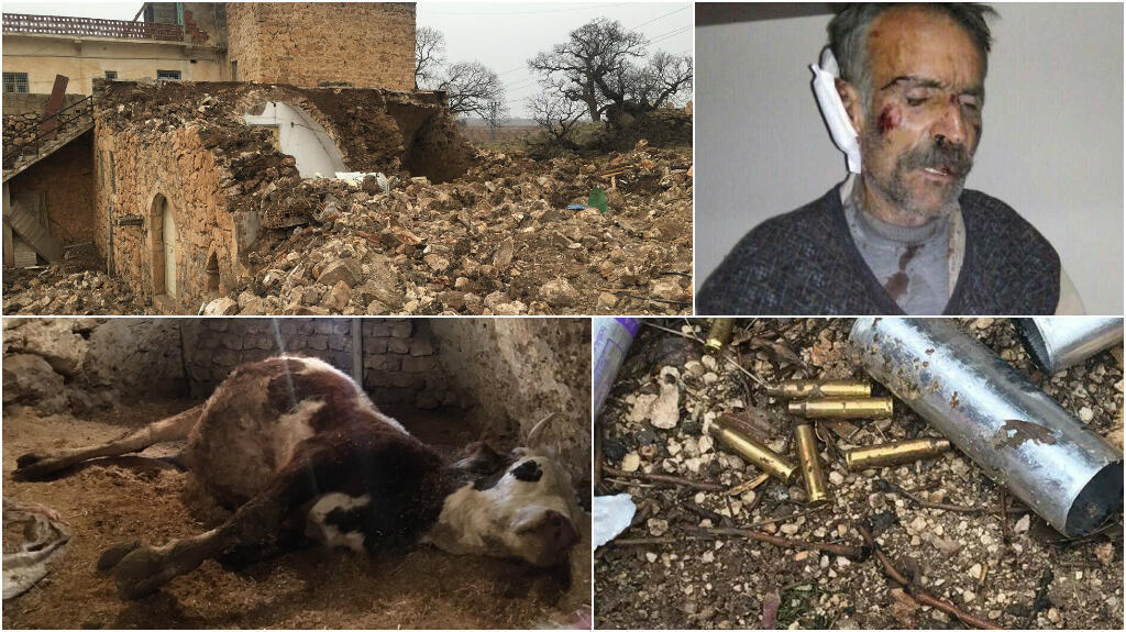 These photos show the violence inflicted on people living in the village of Koruköy. This photo montage includes a selection of photos posted on Twitter.