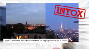 Des cloches ont-elles sonné en région parisienne pour célébrer la victoire de Joe Biden comme l'affirme une vidéo ?