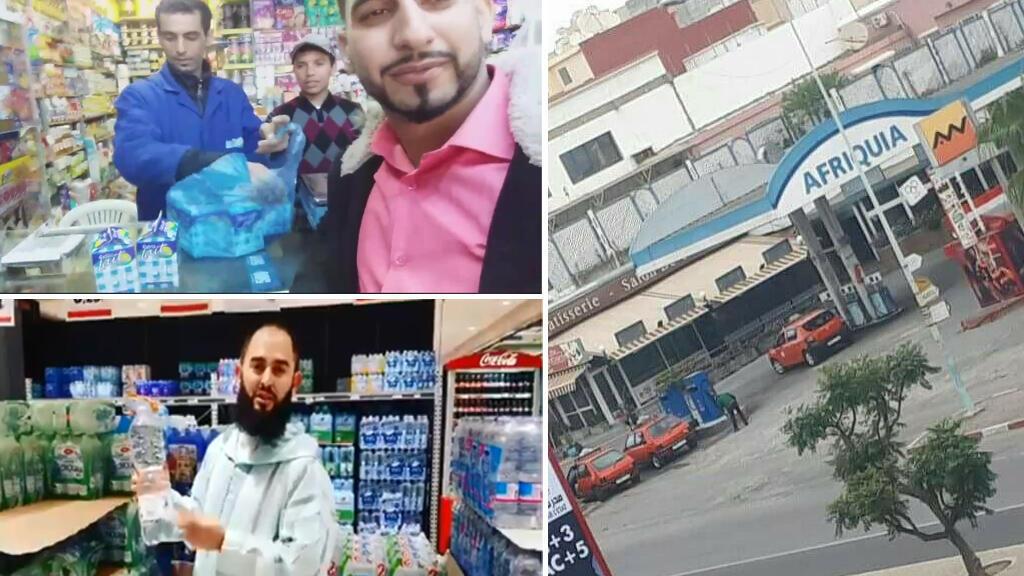 Captures d'écran de vidéos montrant des Marocains annoncer leur soutien à la campagne de boycott sur les réseaux sociaux.