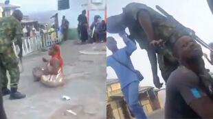 Viral online images posted on Twitter on November 1 and 2 show Nigerian soldiers aggressing civilians in Ibadan by flogging and hair-cutting.