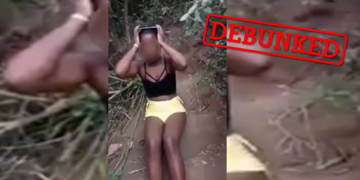 """Many people shared this video on Facebook, claiming that the footage showed a group of """"Asian"""" or """"Indian"""" men torturing an African woman. In reality, the incident took place in Brazil."""