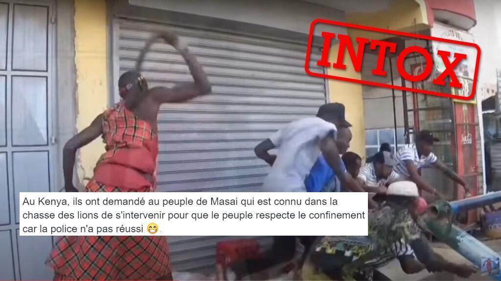 Capture d'écran montrant la vidéo du comédien kényan Mbuzi Seller détournée de son contexte original.