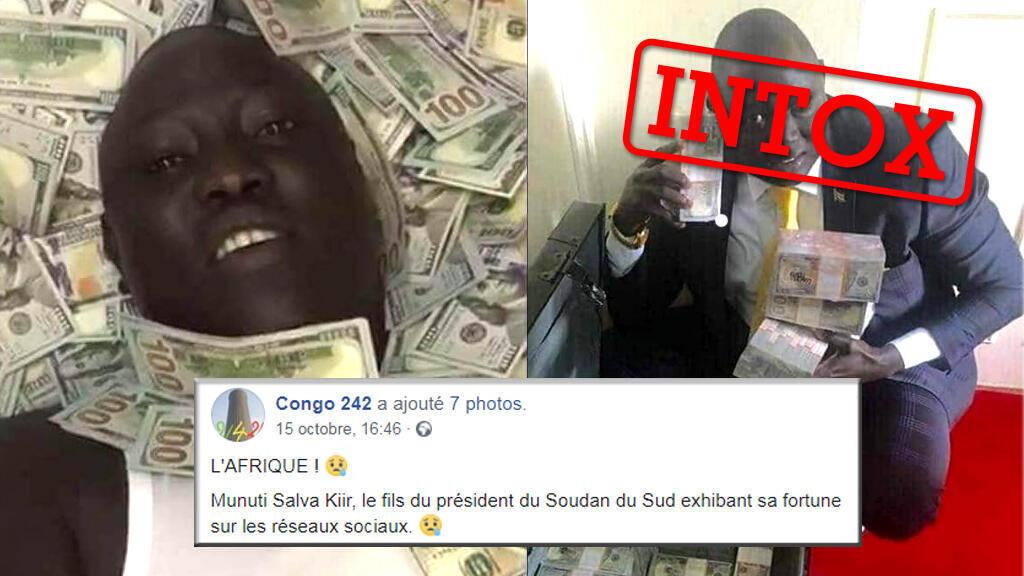 Plusieurs photos affirmant montrer le fils du président du Soudan du Sud circulent sur les réseaux sociaux. Mais il ne s'agit pas de lui.